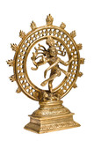 Statue of Shiva Nataraja - Lord of Dance isolated poster