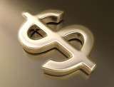 Golden sign dollar. Concept of business and finances. poster