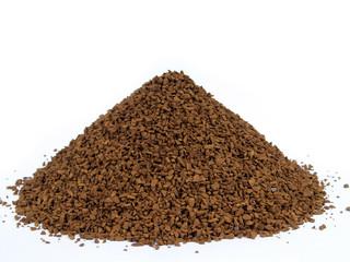granulated coffee sprinkled by hutch, bosom