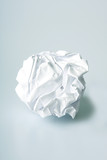 Crumpled paper wad after brainstorming poster