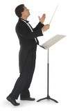 Orchestra conductor on a white background poster