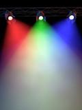RG&B Colored Spotlights poster