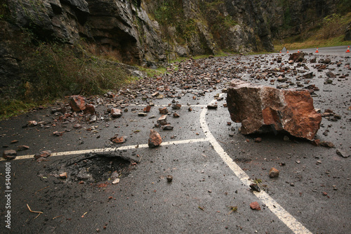 Fallen rocks in Cheddar Gorge in Somerset