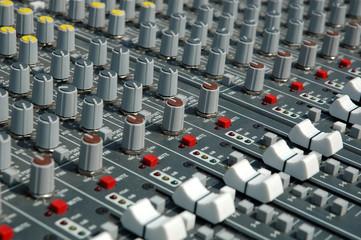 Operator's console of a sound recording.