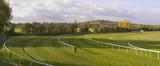 racecourse stratford upon avon warwickshire england uk poster