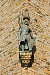A William Wallace Monument statue, Stirling, Scotland