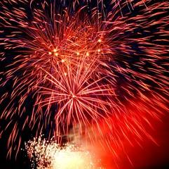 Celebratory firework. Festival of fireworks in sky