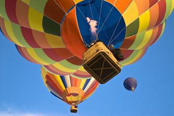 hot air balloon actioning the burner