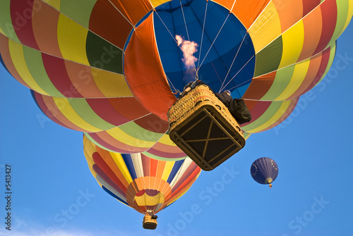 Deurstickers Ballon hot air balloon actioning the burner