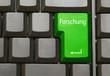Tastatur mit Forschung Taste