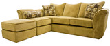 Tan Micro Fiber Sectional Sofa Group with Ottoman    poster