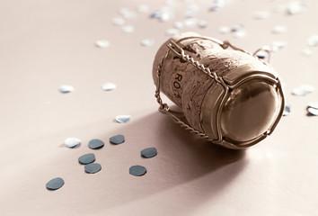 russet confetti and cork