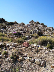 part of the ruins of ancient thira on the island of santorini 18