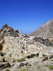 part of the ruins of ancient thira on the island of santorini 17