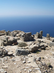 part of the ruins of ancient thira on the island of santorini 08