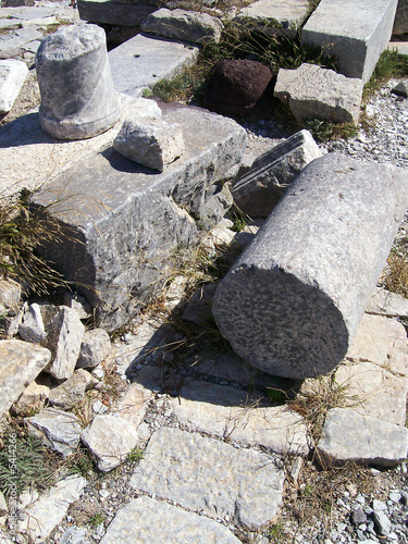 part of the ruins of ancient thira on the island of santorini 16