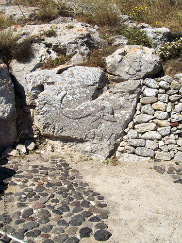 part of the ruins of ancient thira on the island of santorini 13