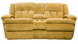 Micro Fiber Double Reclining Loveseat with Cup Holders poster