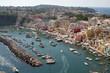 Blick über die Insel Procida, Golf von Neapel, Italien