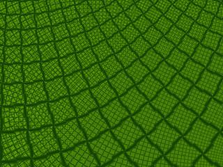 Griglia verde fatta di maglie frattali ripetitive