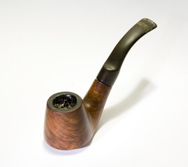 Old smoked English briar pipe 1