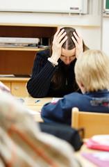 Frustrierte Lehrerin