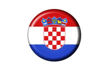 Kroatien Flaggen Knopf