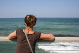 vacances en bord de mer,femme poster
