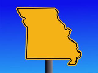 Missouri warning sign