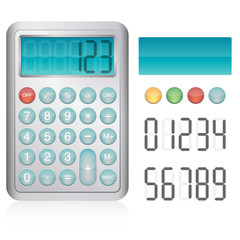 Calculatrice avec éléments modifiables