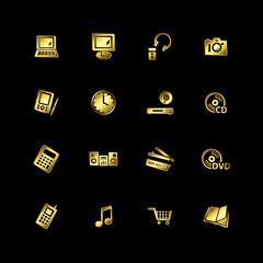 Gold e-shop icons