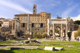 Remains of the Roman Forum in Rome, Italy. poster