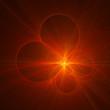 Leinwandbild Motiv circle rays star