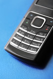 Keypad of a modern GSM/UMTS cell phone. Short depth of field. poster