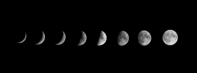 Fasi lunari Moon fases