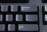 Stock pictures of a keyboard used in a regular computer poster