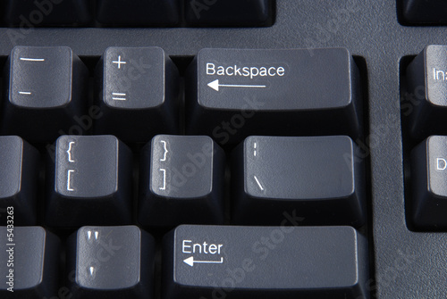 poster of Stock pictures of a keyboard used in a regular computer