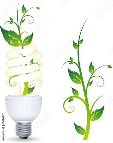 ampoule avec plante qui pousse image vectorielle fichier vectoriel libre de droits sur la. Black Bedroom Furniture Sets. Home Design Ideas