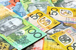 Australian money background.