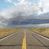 Two lane highway. poster