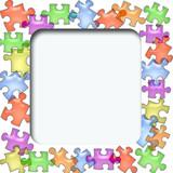 puzzle scrapbook cutout poster