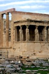 Athens, Greece - Caryatids, sculpted female figures