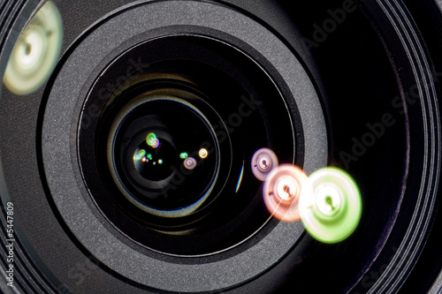 poster of Close up of lens with flares