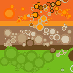 retro style backgrounds with circles