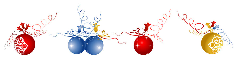 collection of shiny Christmas balls
