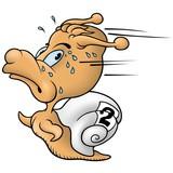 Snail sprinter  - cartoon illustration poster