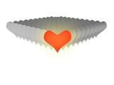 3D red heats valentine love poster