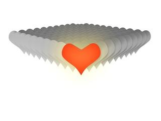 3D red heats valentine love
