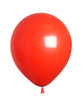 red ballon over white