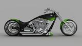 macho vlastný bicykel alebo motocykel bočný pohľad